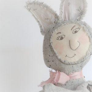 ballyhoo bunny embroiderd doll