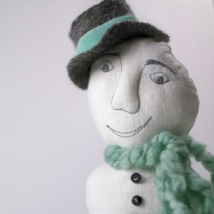 happy snowman doll