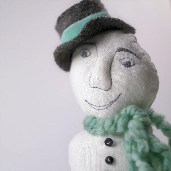 happy snowman doll