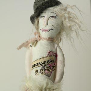 ballyhoo handmade circus doll