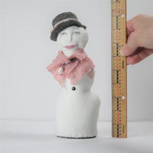 ballyhoo handmade snowlady doll in pink shawl