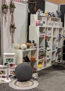 hooked yarn