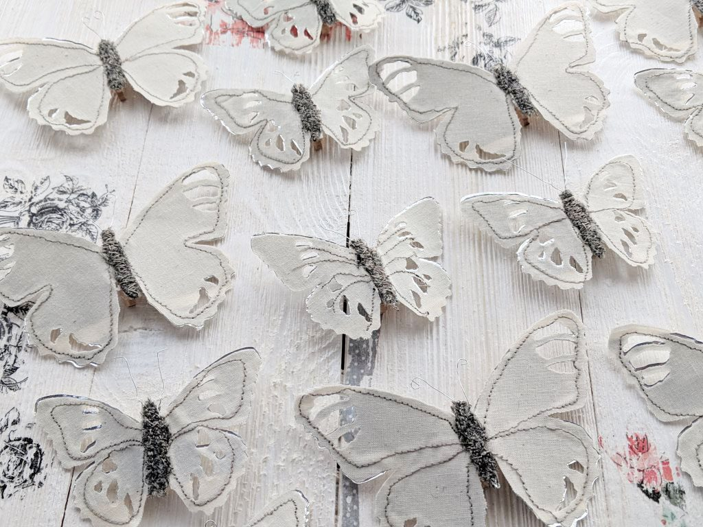 a flock of tattered butterflies