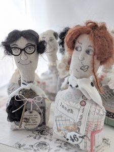 crew of character dolls