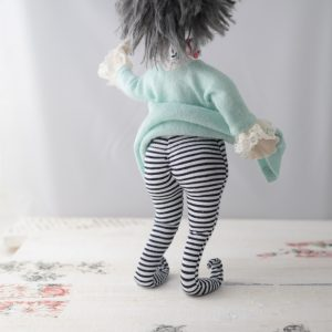 elf booty cloth doll striped tights