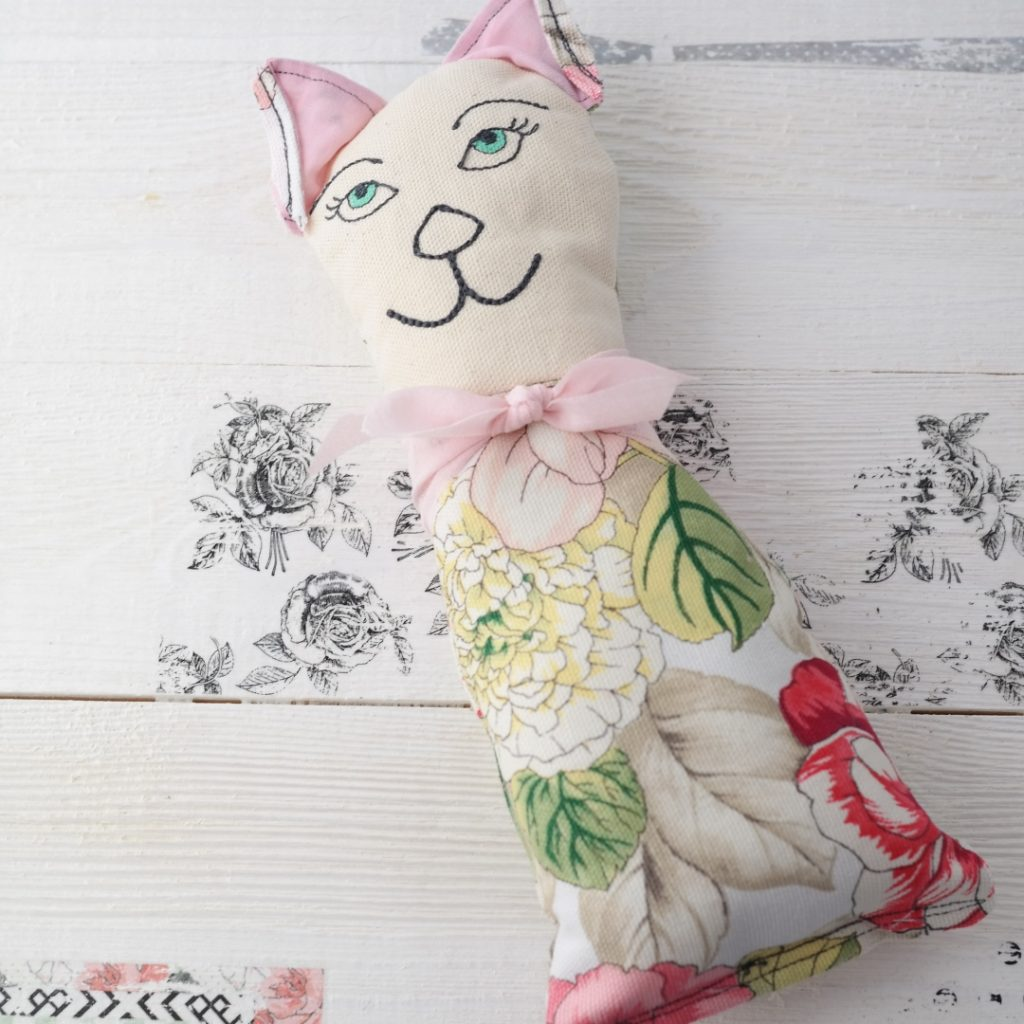 floral cat stuffie