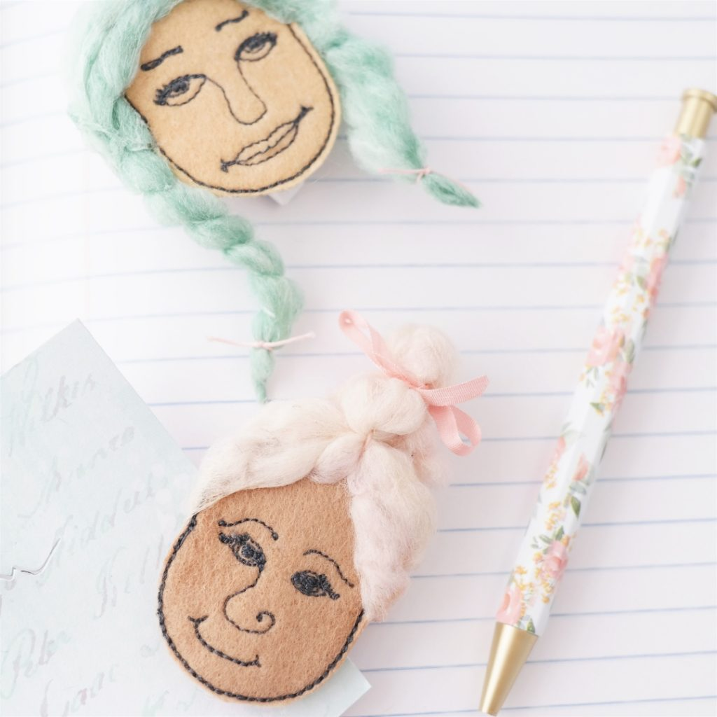 planner clip felt faces