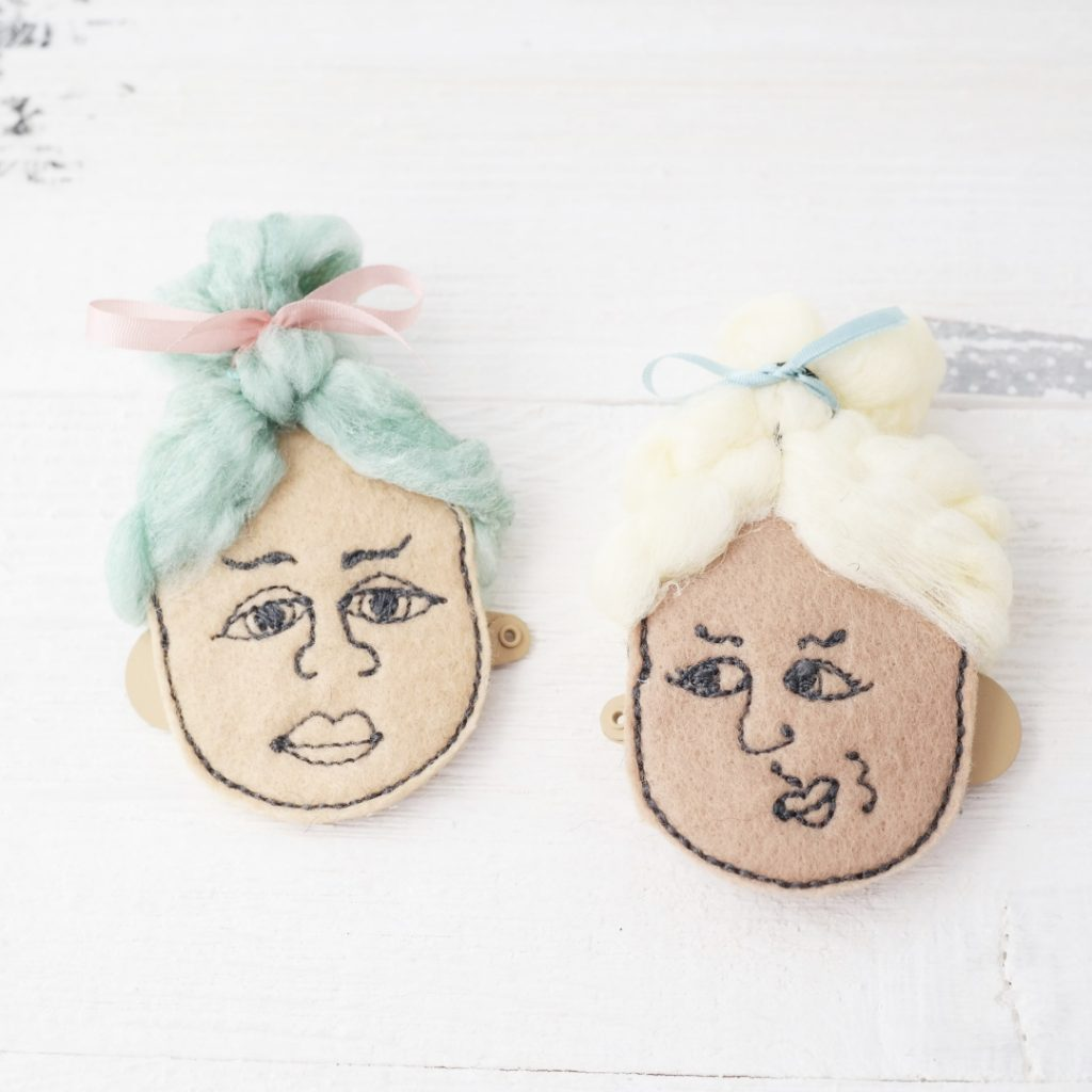 funny felt faces