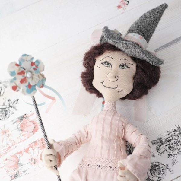 wired doll pattern pink witch