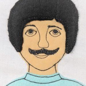 mustache guy applique