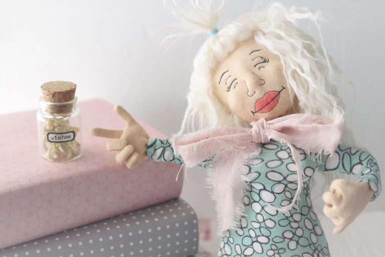 ITH poseable cloth doll