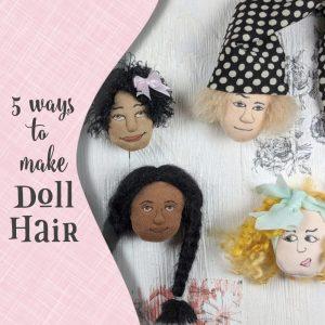 cloth doll hair options