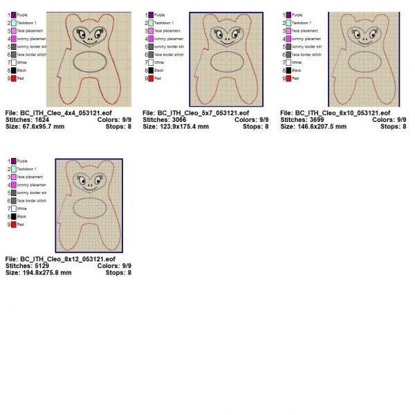 machine embroidery file details