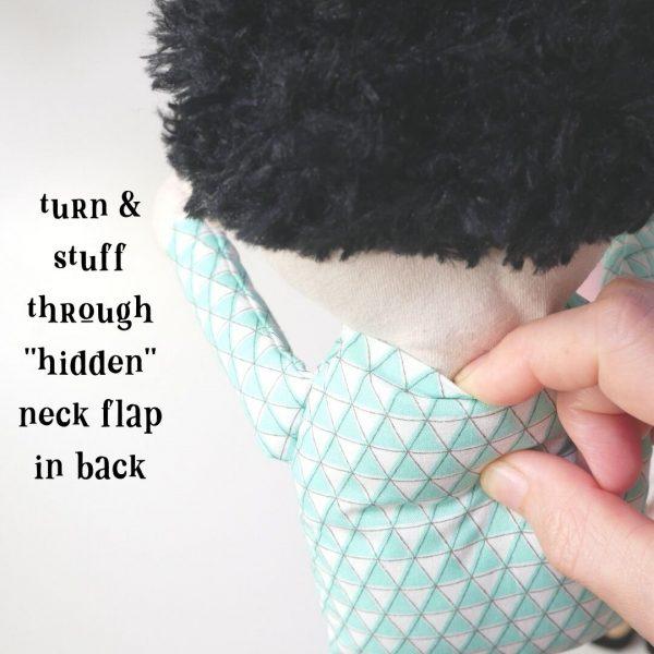 hidden neck flap