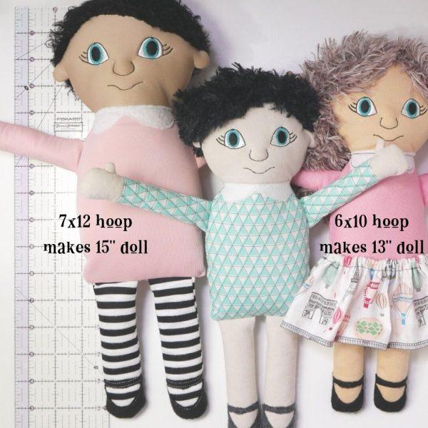 multiple sizes ITH rag doll