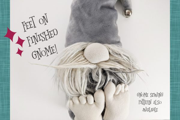 grey gnome pattern feet