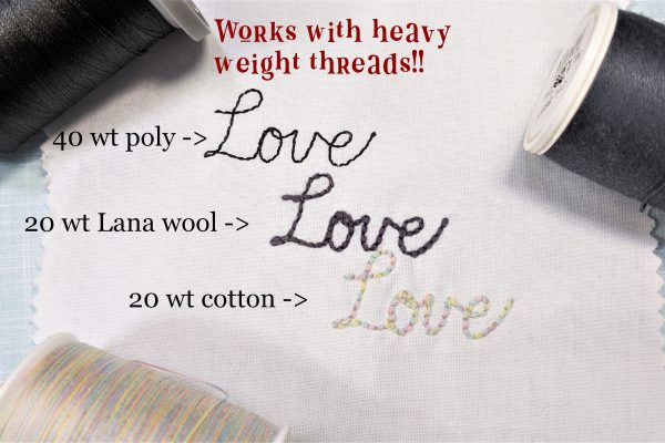 believe machine embroidery text